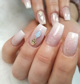 50 Acrylic Nails Ideas with Glitter Which You Love 26