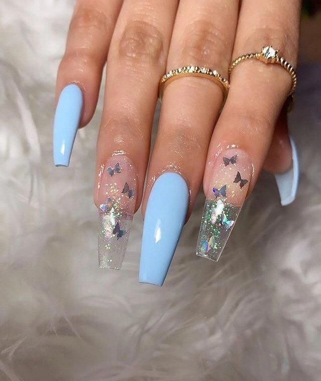 50 Acrylic Nails Ideas with Glitter Which You Love 30