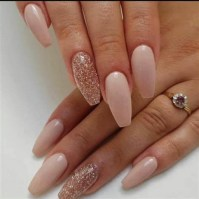 50 Acrylic Nails Ideas with Glitter Which You Love 39