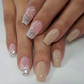 50 Acrylic Nails Ideas with Glitter Which You Love 43