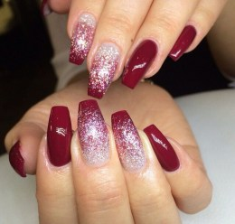 50 Acrylic Nails Ideas with Glitter Which You Love 50