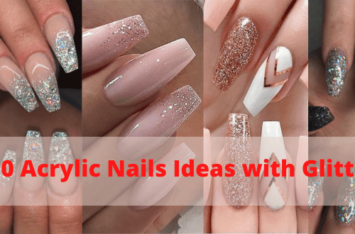 50 Acrylic Nails Ideas with Glitter Which You Love 51