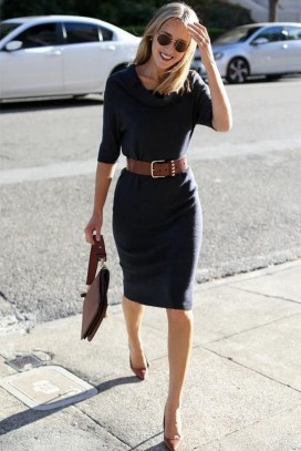 50 Dresses with Belt Styles Ideas 11