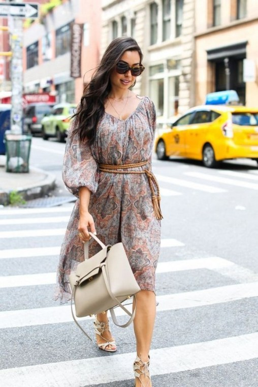 50 Dresses with Belt Styles Ideas 26