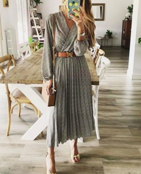 50 Dresses with Belt Styles Ideas 49