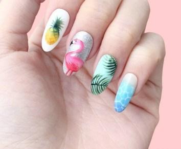 53 Ideas Fresh New Look Tropical Nail Designs 04