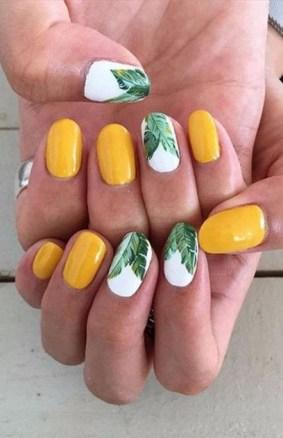 53 Ideas Fresh New Look Tropical Nail Designs 15