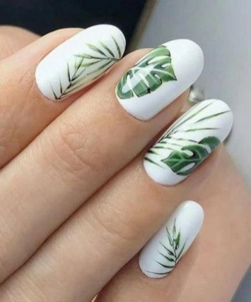 53 Ideas Fresh New Look Tropical Nail Designs 16
