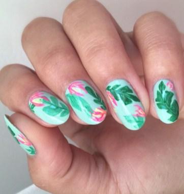 53 Ideas Fresh New Look Tropical Nail Designs 20