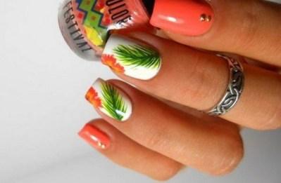 53 Ideas Fresh New Look Tropical Nail Designs 24