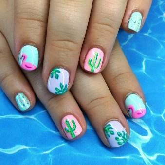 53 Ideas Fresh New Look Tropical Nail Designs 32