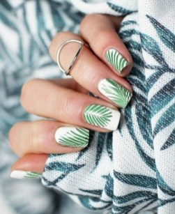53 Ideas Fresh New Look Tropical Nail Designs 38