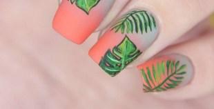 53 Ideas Fresh New Look Tropical Nail Designs 42