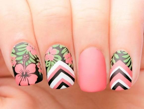 53 Ideas Fresh New Look Tropical Nail Designs 46