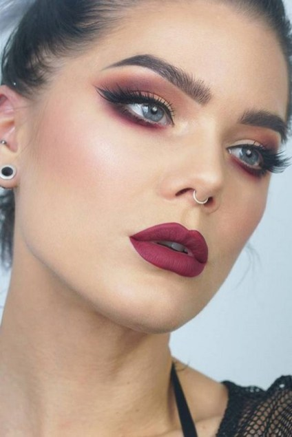 60 Lovely Makeup For Valentines Day Look Ideas 03