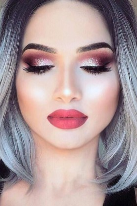 60 Lovely Makeup For Valentines Day Look Ideas 39