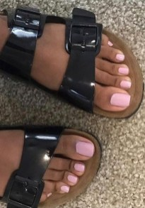 50 Ideas lovely Pink Toe Nail Art for Valentines Day 12