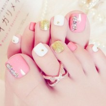 50 Ideas lovely Pink Toe Nail Art for Valentines Day 20