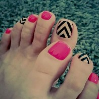 50 Ideas lovely Pink Toe Nail Art for Valentines Day 21