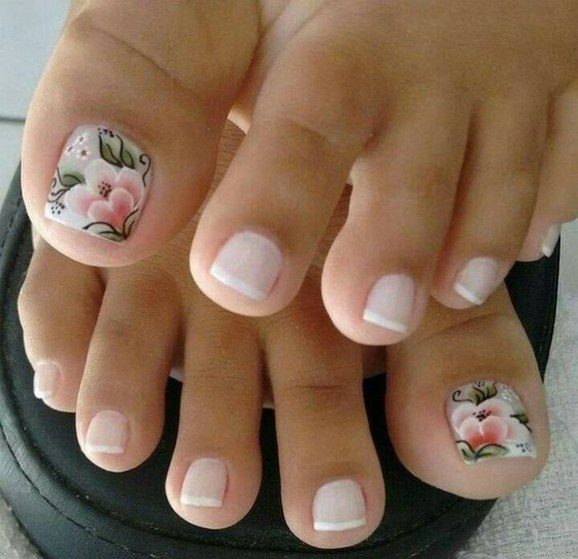 50 Ideas lovely Pink Toe Nail Art for Valentines Day 30