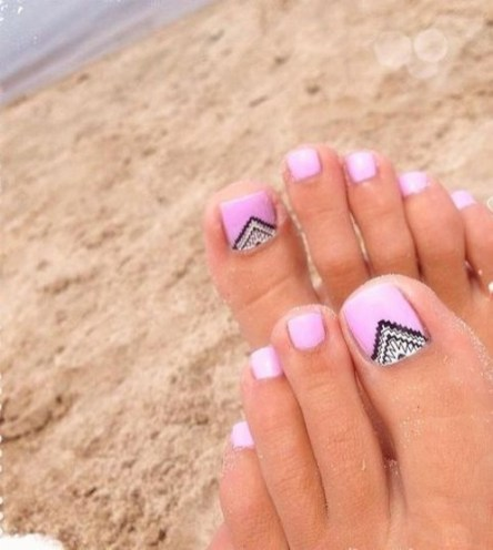 50 Ideas lovely Pink Toe Nail Art for Valentines Day 47