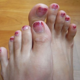 50 Ideas lovely Pink Toe Nail Art for Valentines Day 66