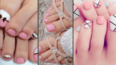 50 Ideas lovely Pink Toe Nail Art for Valentines Day