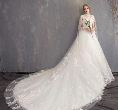 60 Victorian Styles Neckline for Wedding Dress Ideas 13