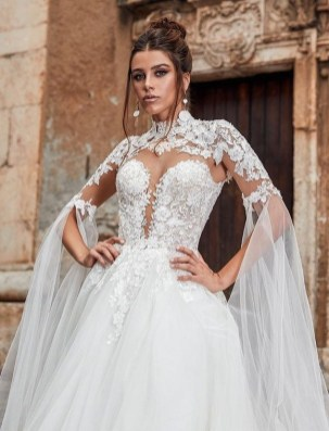 60 Victorian Styles Neckline for Wedding Dress Ideas 15