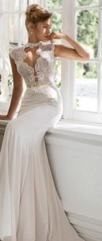 60 Victorian Styles Neckline for Wedding Dress Ideas 36