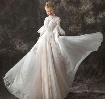 60 Victorian Styles Neckline for Wedding Dress Ideas 45