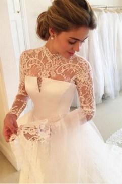 60 Victorian Styles Neckline for Wedding Dress Ideas 59