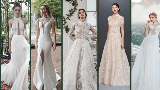 60 Victorian Styles Neckline for Wedding Dress Ideas