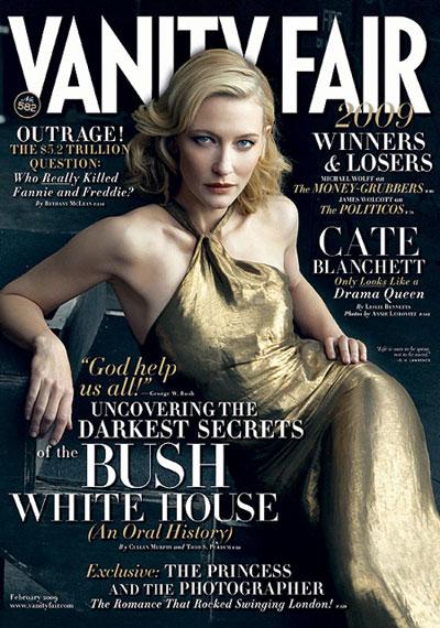 Cate Blanchett on Vanity Fair February 2009