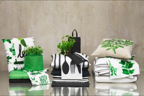 H and M home decor green