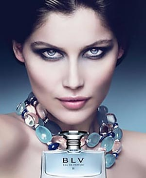 Laetitia Casta campaigns for Bvlgaris perfume