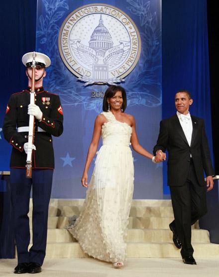 The Obamas at the Inauguraton