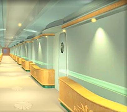 Poseidon Underwater Hotel Corridor