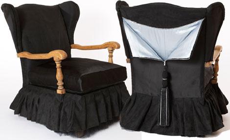Sarah Louise Dix Couture ball gown chair