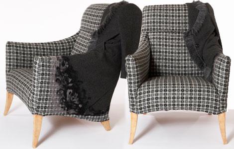 Sarah Louise Dix Couture ball coat chair