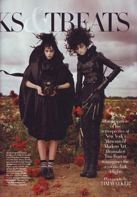 Tim Burton Trick Treats Harper s Bazaar october 2009