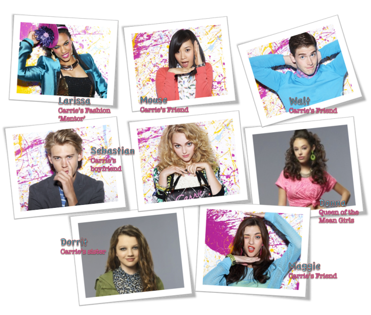 The Carrie diaries characters fashion style