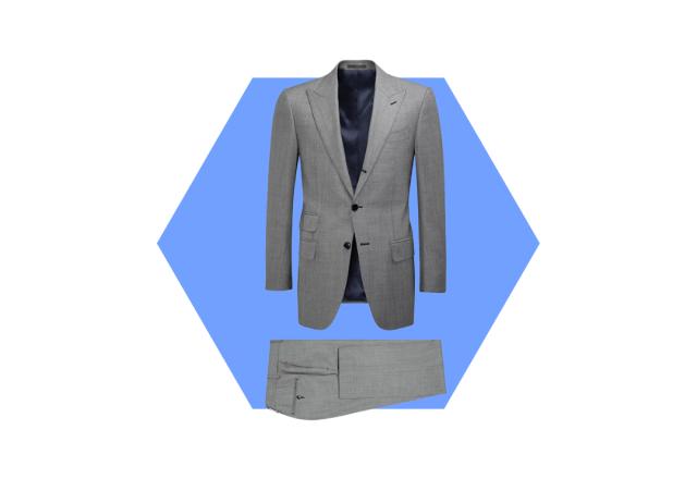 men's charcoal suit wardrobe essential