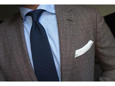 Men's Wardrobe Essential: Navy Grenadine Tie