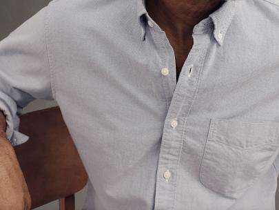 Men's Wardrobe Essential: Blue Oxford Cotton Button Down