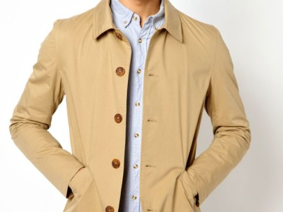 Men's Wardrobe Essential: Khaki Single Breasted Trench Coat