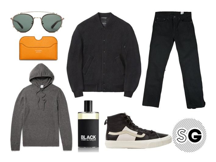dark, edgy, hoodie, sherpa, orslow, commes des garcons, vans, acne studios, toms, the hillside,