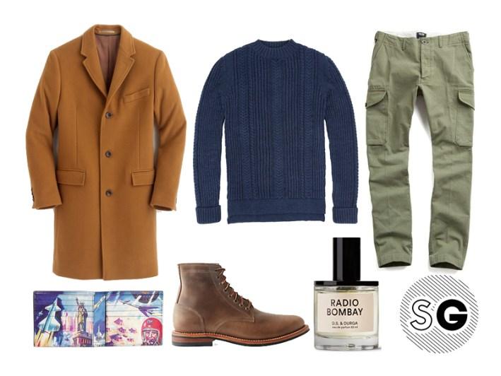 cargo pants, top coat, rugged gentleman