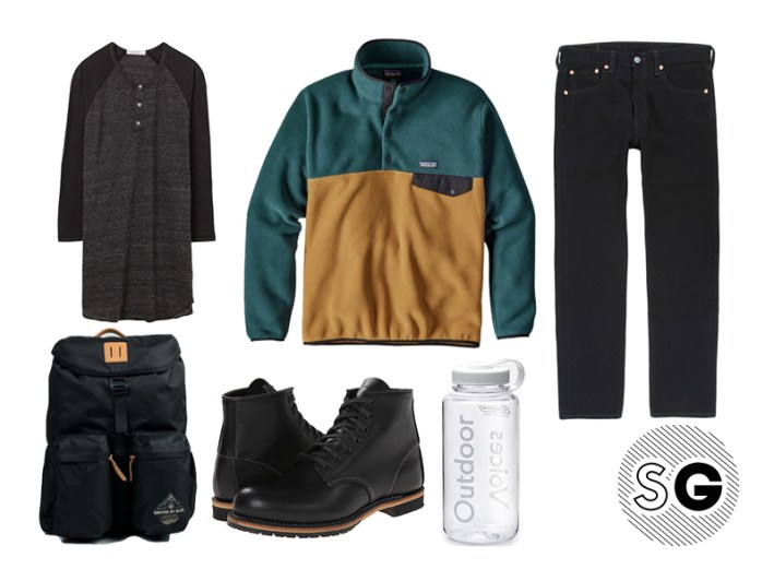 levi's, red wing, outdoor voices, united by blue, fleece pullover, patagonia, alternative apparel
