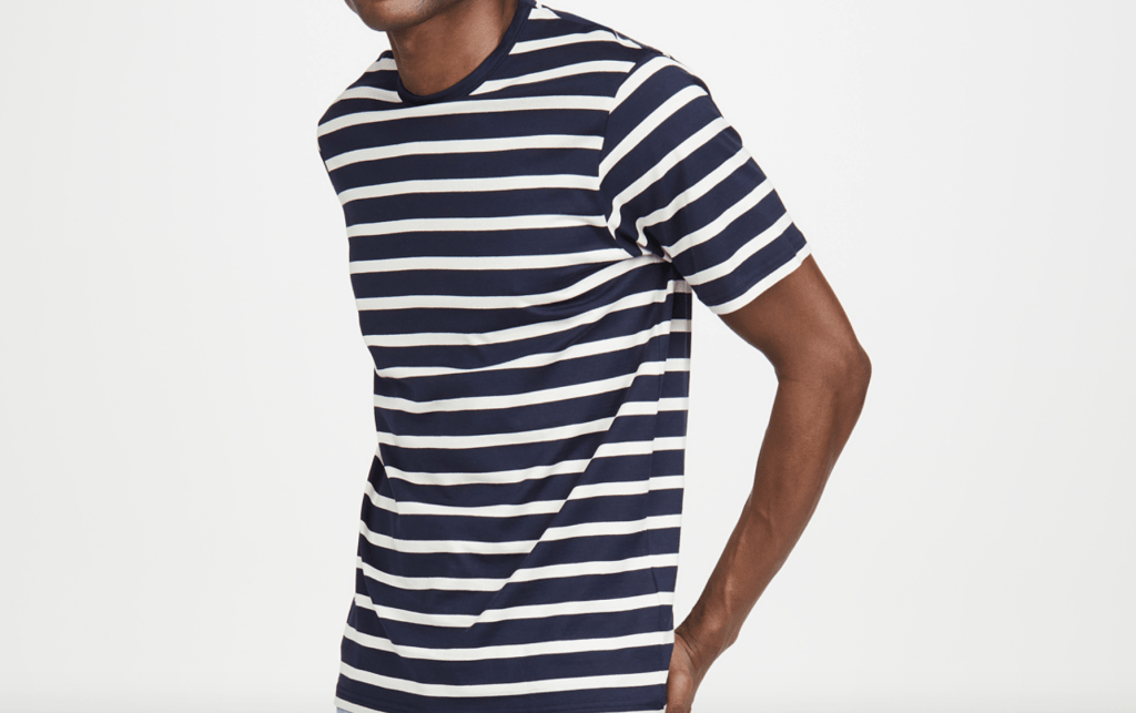 sunspel breton stripe t-shirt